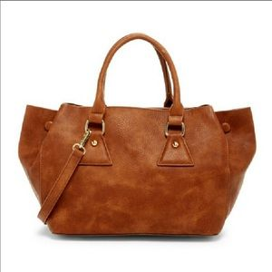 Boutique-Pink Haley Rhiannon Tote in Brown